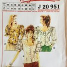 Neue Mode Puffy Sleeve blouse Pattern J20951 sizes 8 to 20
