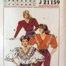 Neue Mode Puffy Sleeve blouse Pattern J21159 sizes 8 to 22