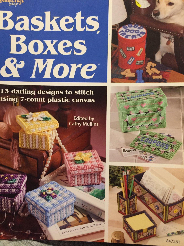Baskets Boxes & More Plastic Canvas Pattern The Needlecraft Shop 847531 13 designs