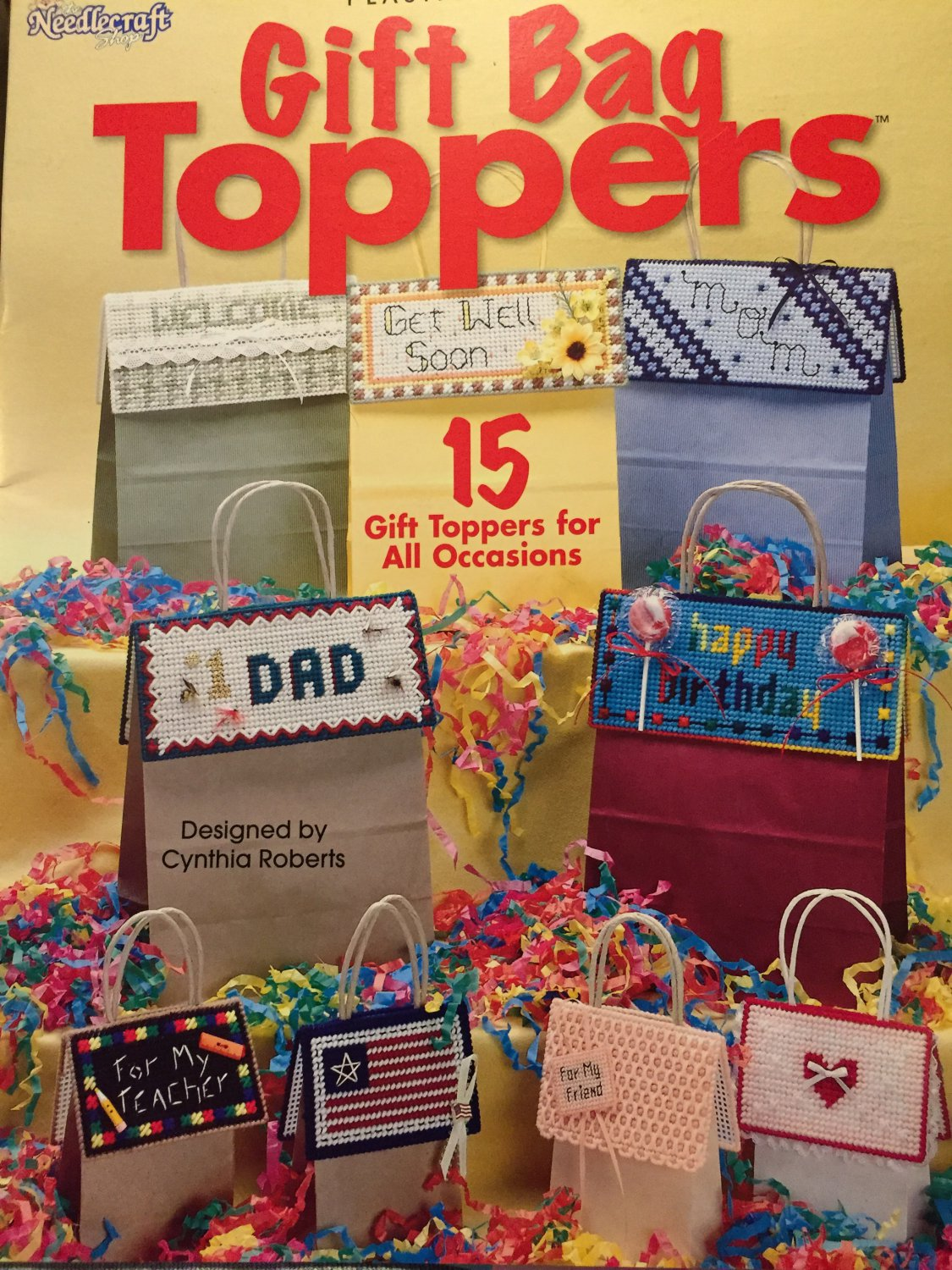 Gift Bag Toppers Plastic Canvas Leaflet/Book The Needlecraft Shop #844507