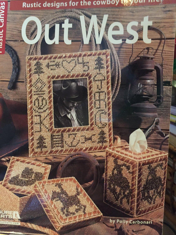 Leisure Arts Out West Plastic Canvas Patterns 6069