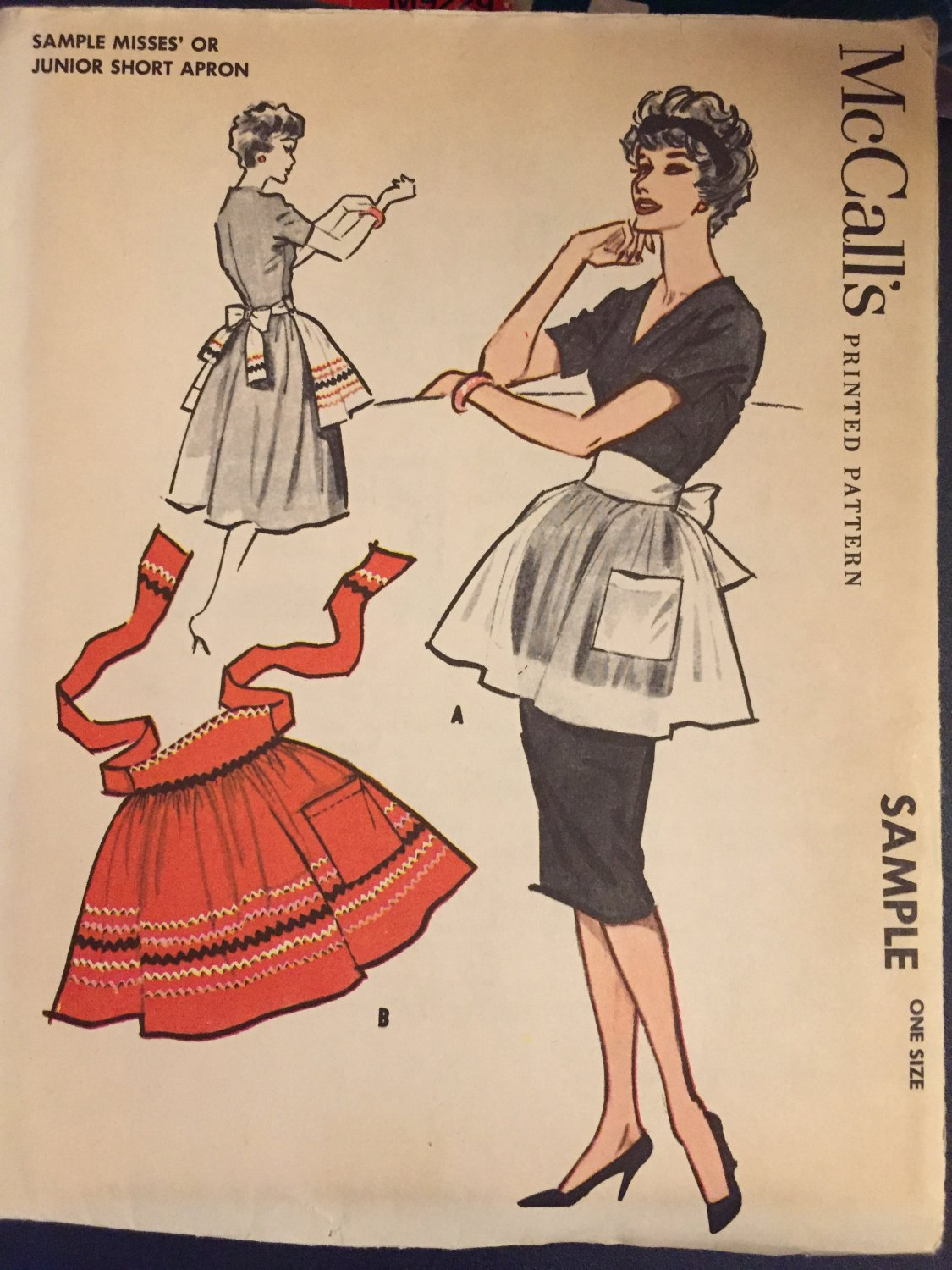 Vintage McCall´s 1950's Apron Sewing Pattern Sample