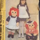 Raggedy Ann & Andy McCall's 4268 Sewing Pattern 36 Inch Doll Clothes Child's Apron