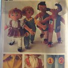 Simplicity 9137 Rag Dolls and Clothes Learn to Snap Button Count Zip Toy Sewing Pattern 24¨