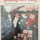 Leisure Arts Christmas Stockings Knitting Pattern STOCKINGS WERE HUNG 2203