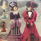 """Annie's Attic Crochet Victorian Ladies Gowns 14 1/2"""" dolls 874615"""