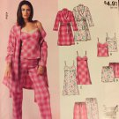 McCall's 9198 Misses Easy Pajamas, Robe Tops, shorts, nightgown, pants Size XS - MED Sewing Pattern
