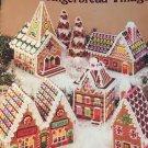 American School of Needlework 3039 Plastic Canvas  pattern Gingerbread Village