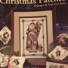Leisure Arts #2202 Christmas Patches Cross Stitch Pattern 10 Designs by Sandi Gore Evans.