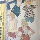 Empire Waistline Flared Tops or Shaped Bib Blouse 1970's McCall's Sewing Pattern 4284 Size 10-12