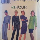 Misses Long Sleeve Loose Fit Straight Dress Or Tunic Top Sewing Pattern Simplicity 7853 size 12 - 16