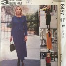 Misses Dress with Mock Vest McCalls 8457 Sewing Pattern Size 12, 14, 16
