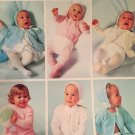Infant Sweater Knitting Crochet pattern Six for Babies by Bernat 157 Size 6 month to 2 years