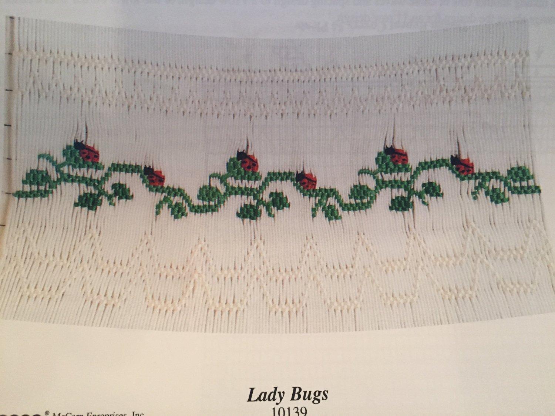 Lady Bugs Smocking plate Ellen McCarn 10139