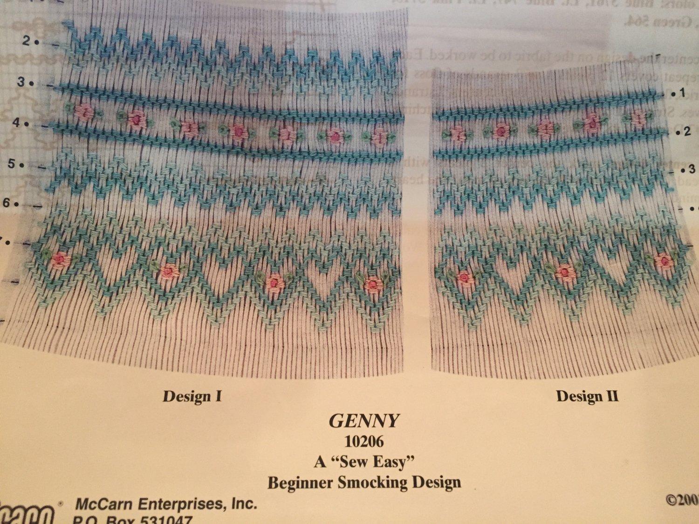 Genny Smocking plate 10206 Ellen McCarn