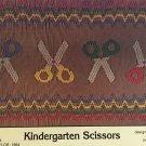 Kindergarten Scissors Smocking plate Mollie Jane Taylor