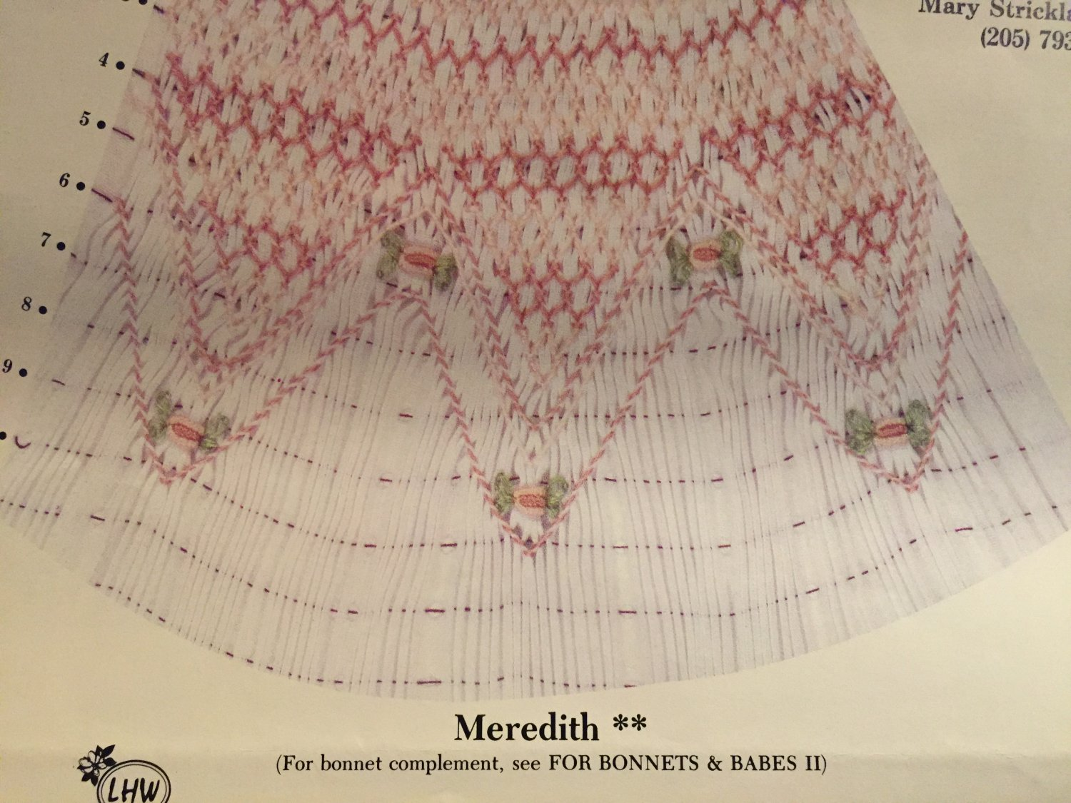 Meridith Smocking plate LHW Creations