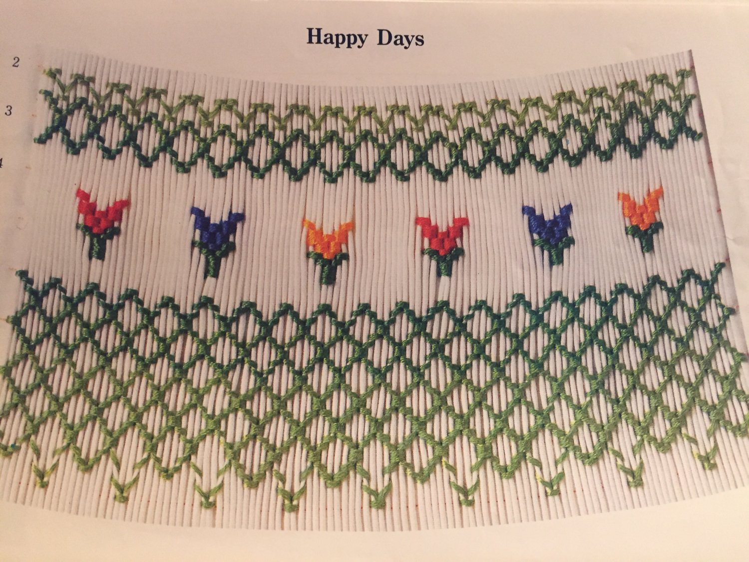 Happy Days Smocking plate Julia Golson