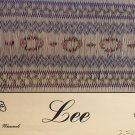 Lee Smocking plate Jeanne Rogers Womack #033 easy, Insert or Bishop