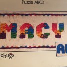 Puzzle ABCs Smocking plate from Doodlebugs