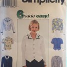 Simplicity 6 Made Easy Blouse Pattern 8468 Sizes 14-16-18 Uncut