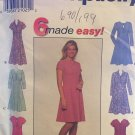Simplicity 7899 Misses High Waisted Dress Sewing Pattern Size 12 14 16 with collar variations