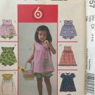 McCall's 4757 Girls Dress Top Panties Handbag Sewing Pattern Uncut Size 4 5 6 Toddlers Sundress