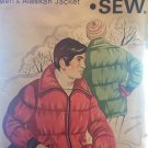 Kwik Sew 421 Mens Alaskan JACKET Pattern Zip Front for Quilted Fabric Sewing Pattern Size s m l xl