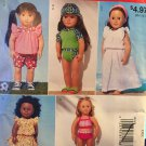 "McCall's Easy Stitch 'n Save Pattern # M9365 Clothes for 18"" Doll Uncut Swimsuits and Dresses"