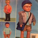 "McCALLS PATTERN 9368 - BOY DOLL CLOTHING FOR 18"" inch Dolls."