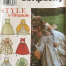Simplicity 8953 Special Occasion Dress for girls Flower Girl  4 5 6 7 8 Uncut
