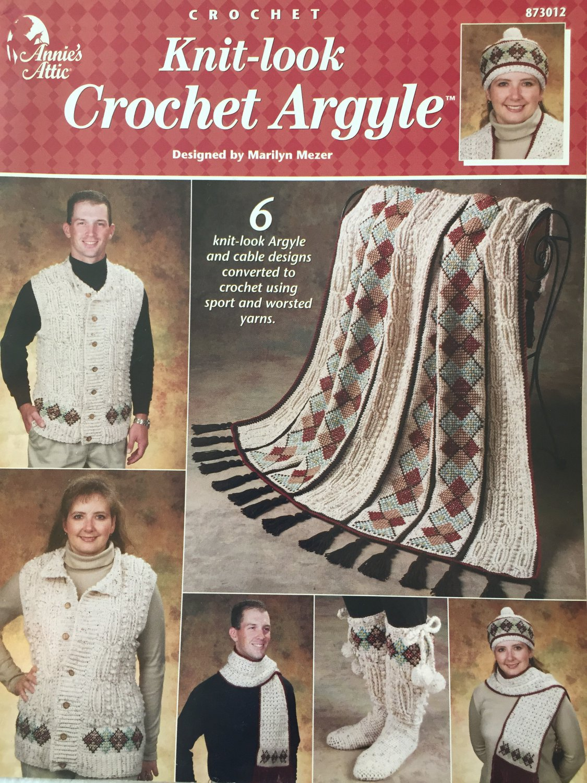 Annie's Attic 873012 Knit Look Crochet Argyle Crochet Patterns