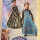 Simplicity 1222/0748 Child's Disney Frozen Princess Gowns, Sizes 3, 6, 7, 8, UNCUT