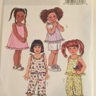 Butterick 4173, Fast & Easy, Toddler Dress, Top, Shorts, Capris, Pants, Ruffles, Girl, Children