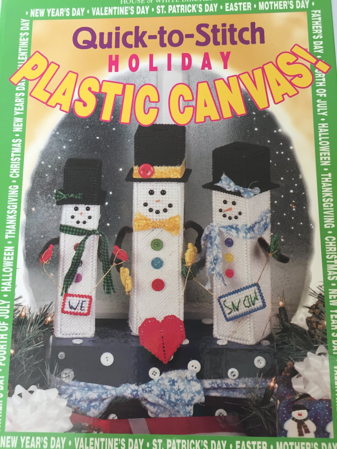 Quick-To-Stitch Holiday Plastic Canvas Laura Scott House of White Birches