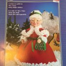 "Fibre Craft Mrs. Claus Dress for 13"" Mrs. Claus Music Box Doll Crochet Pattern FCM311"