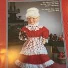 "Fibre Craft Mrs. Claus Dress and Apron for 13"" Mrs. Claus Music Box Doll Sewing Pattern FCM312"