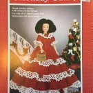 "Fibre Craft Holiday Gala Doll Gown for 11 1/2"" MIni Fashion Doll FCM270 Thread Crochet Pattern"
