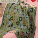 Red Heart Granny Square Afghans Crochet Pattern 10 projects 51195