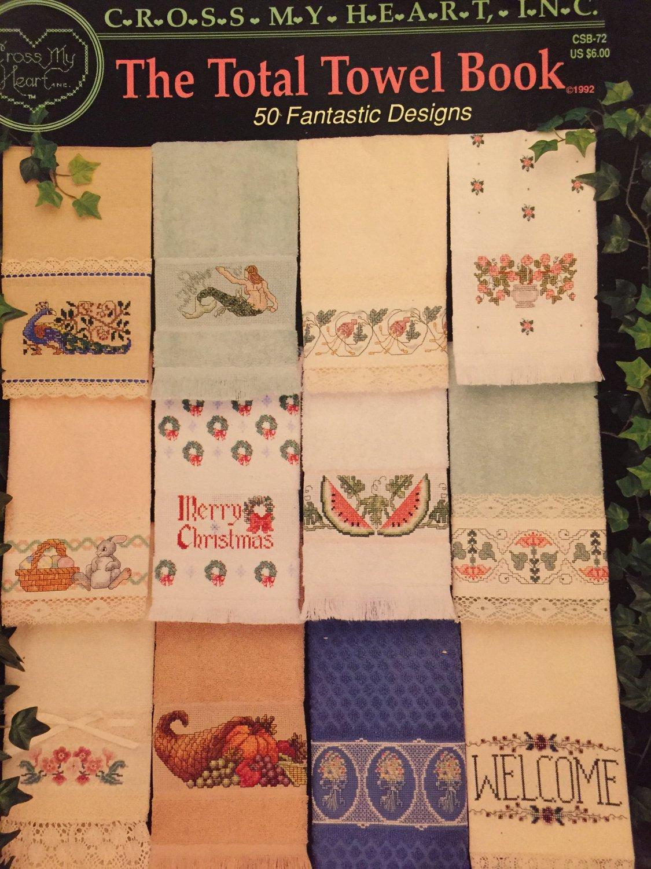 The Total Towel Book 50 Designs Cross Stitch Pattern Cross my Heart CSB-72