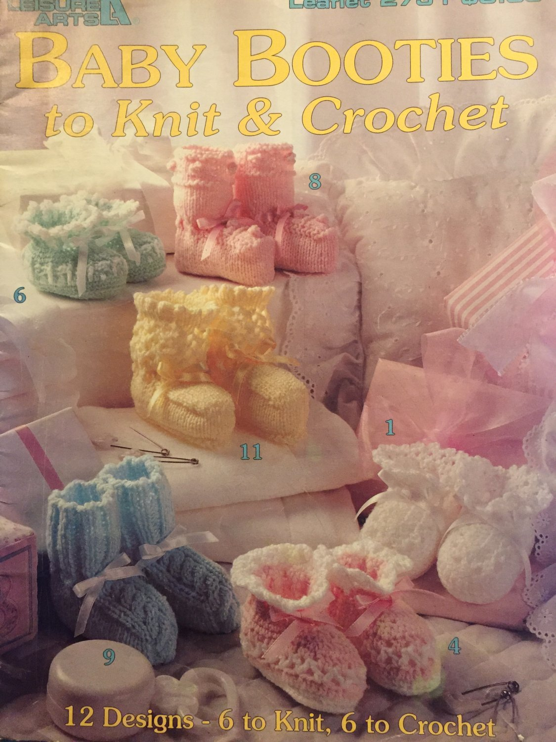 Baby Booties to Knit and Crochet 12 designs Leisure Arts 2731
