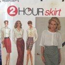 Simplicity 8141 sewing pattern size 10-16 women's skirt 3 lengths back zipper