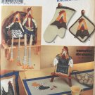 Chicken Kitchen Accessories Simplicity 7166 Pattern 2002 Country Decor