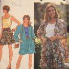 Simplicity 7677 Top Shorts Cardigan Split Skirt Wardrobe Sewing Pattern 90s Size BB (Large XL)