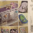McCalls Crafts Pattern M4897 Baby Nursery Gear Highchair Car Cushion Stroller Organizer Changing Pad