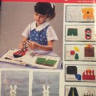 Butterick 5626 447 Childs Soft BOOK Sewing Pattern Teaches Tie Zip Button Set Table
