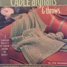 Annie's Attic Cable Afghans & Throws 5 designs by Lisa Naskrent