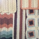 Mile-A-Minute Double Quick Afghans Crochet Pattern 5 designs