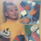 Puppet Mittens Knitting Pattern Leisure Arts 2275 puppy bunny snake pig flamingo mittens and more