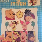 Winnie the Pooh Quick to Stitch Cross Stitch Pattern Leaflet Leisure Arts 3192
